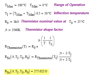 Thermistor Calculations