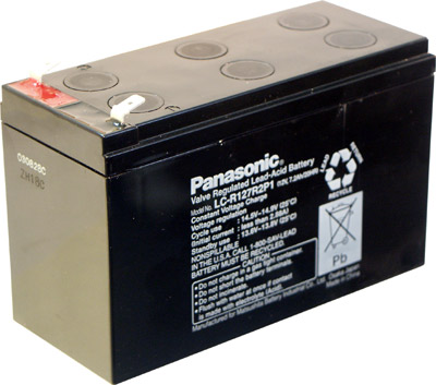7.2 A-hr Sealed Lead Acid Battery.