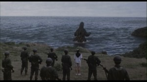 Figure 1: Godzilla Returning to the Sea.
