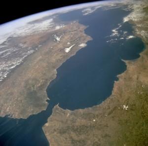 Figure 1: Strat of Gibraltar and the Mediterranean.
