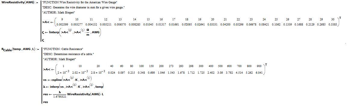 Figure M: Linear Interpolation of Copper Resistance Data.
