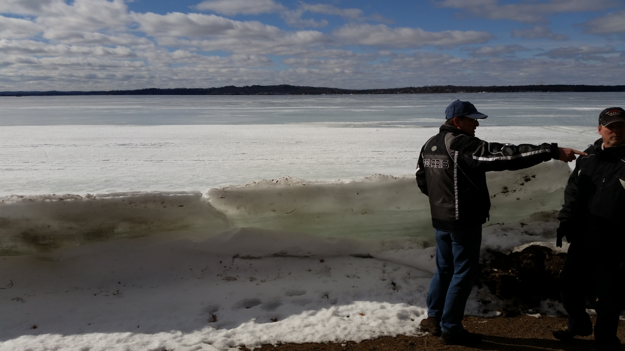 Figure 3: Dave and Ray by the Gull Lake Ice.