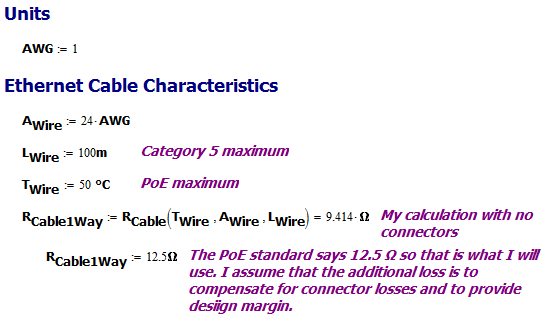 Figure M: One Resistance of a Categrory 5 Cable Wire.