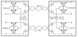 Figure 1: Hookup for a 30 W PoE Type 2 System.