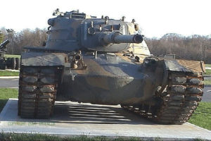 Figure 1: Good Photograph that Shows the Tank Track of an M48A5 Patton Tank (Source).