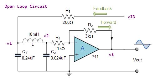 Figure 2: Open Feedback Loop Version of the Circuit.
