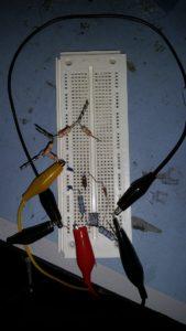 Figure 1: Colpitts Oscillator Prototype.Figure 1: Colpitts Oscillator Prototype.