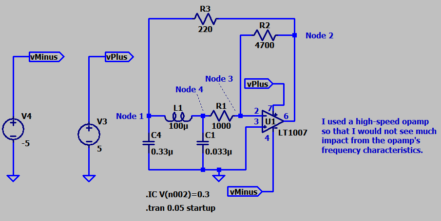 Figure M: Colpitts Circuit I Built in the Lab.