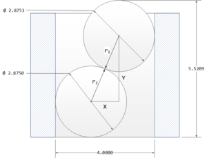 Figure M: Hole Diameter Measurement Using Gage Balls Example.