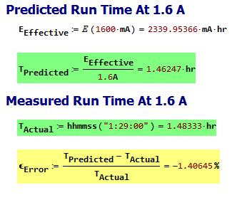 Figure 3: My Run-Time Prediciton Versus Measured Result.
