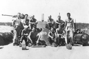 Figure 1: PT-109 Crew. JFK is on the far right.