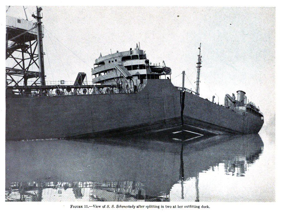 Figure 3: Picture of the SS Schenectady after a cracking failure.
